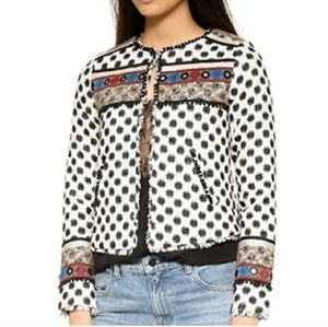 NWT- Cynthia Vincent Embroidered Silk Jacket